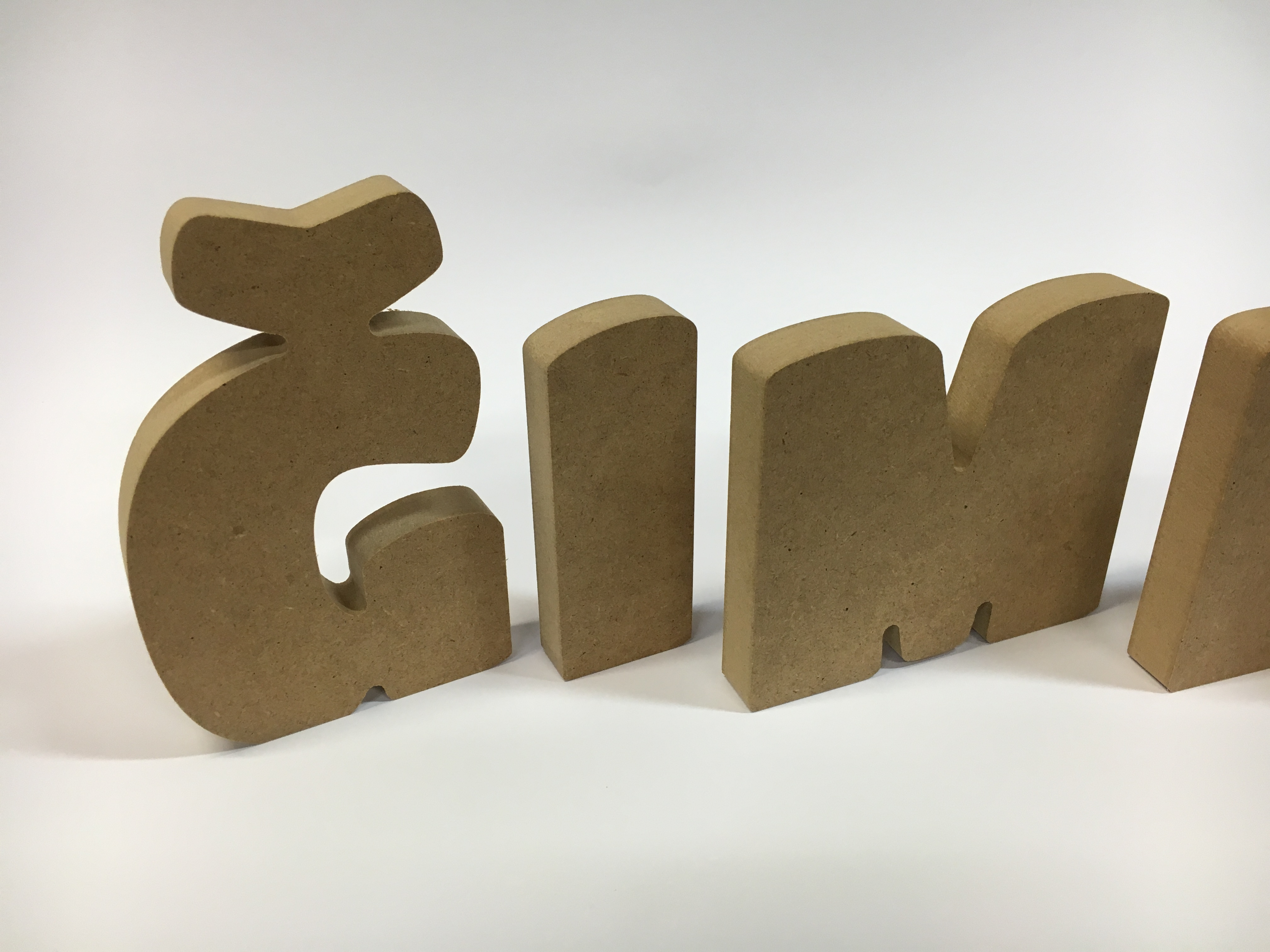 Mdf letters letters numbers decorative letters for Decorative mdf